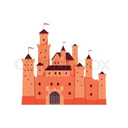 Medieval fantasy castle towers or Stock vector Colourbox