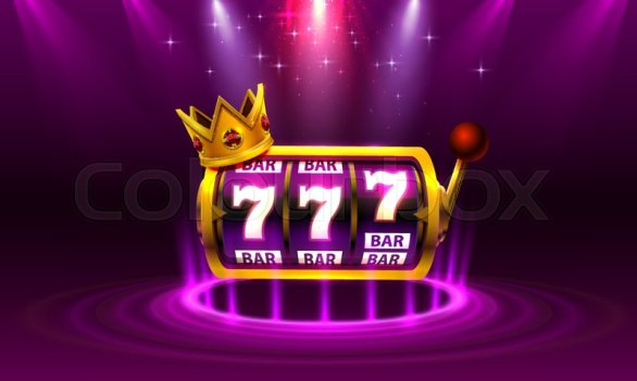 King slots 777 banner casino on the ... | Stock vector | Colourbox