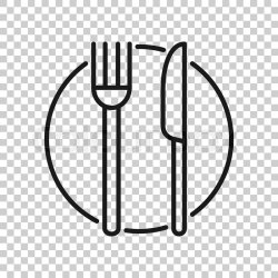 Fork knife and plate icon in Stock vector Colourbox