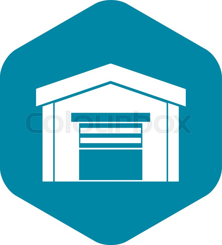 Garage Icon In Simple Style On A White Stock Vector Colourbox