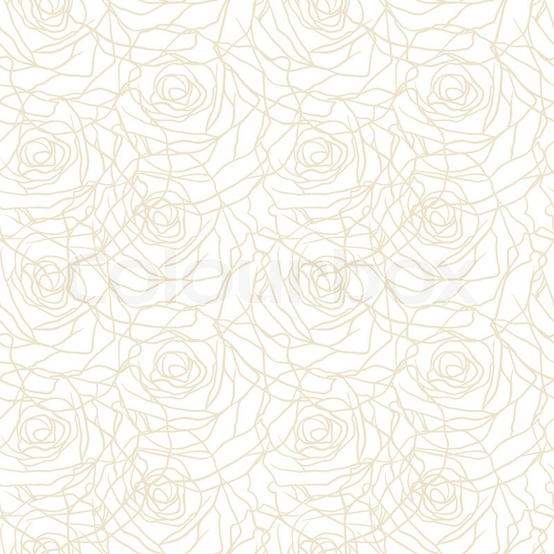 Floral Background With Roses Vector Seamless Pattern