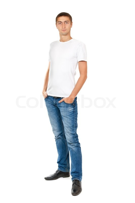 Portrait Of Young Man In Full View Stock Photo Colourbox