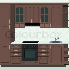 Kitchen Furniture Banquette Bench Interior Of Stock Photo Colourbox