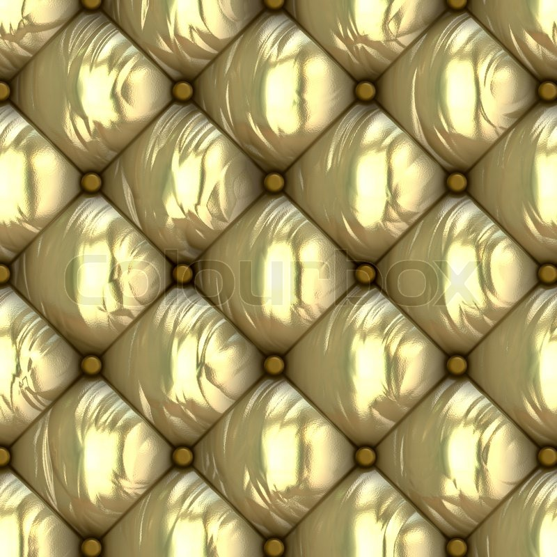 Leather Retro Cushion Seamless Pattern Stock Image