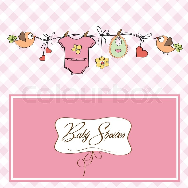 Postcard Baby Shower Invitations