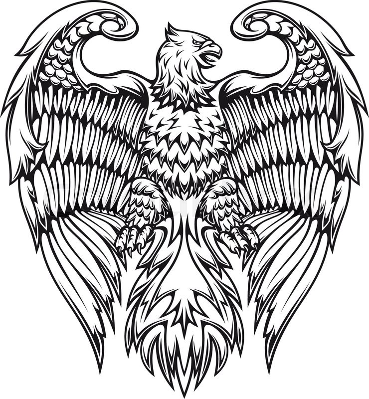 Eagle Tattoo Royalty Free Stock Photography