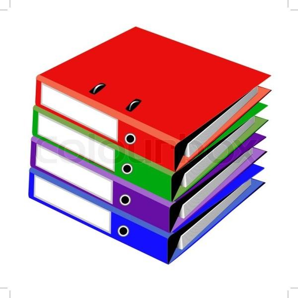 Pile Files Office White Stock Vector Colourbox