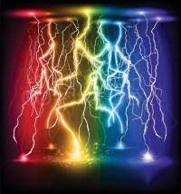 Vector lightning flash strike background | Stock Vector ...
