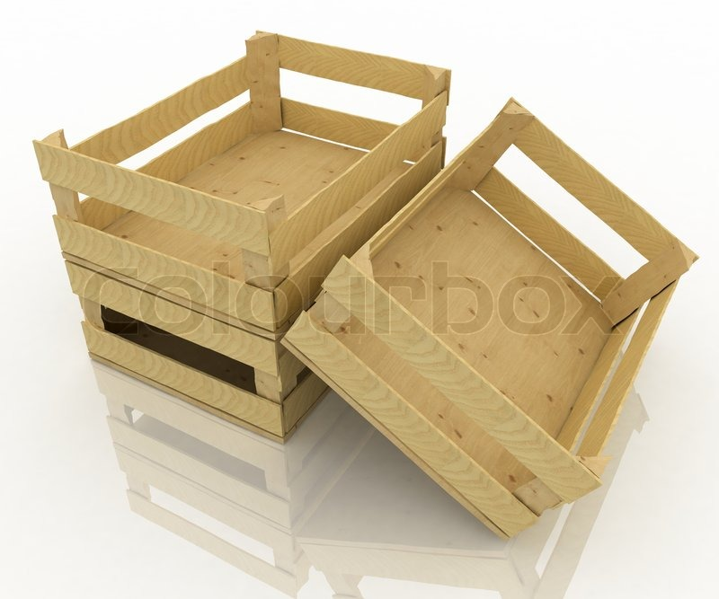 Empty Wooden Boxes Containers For Fruits And Vegetables