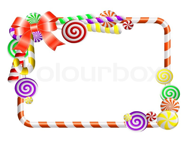 09c0ba8cdebc Beautiful Frame With Colorful Candies Stock Vector Colourbox ...
