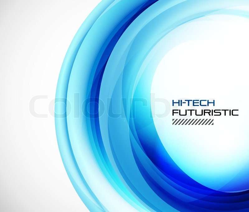 Abstract Blue Techno Swirl Background Stock Vector