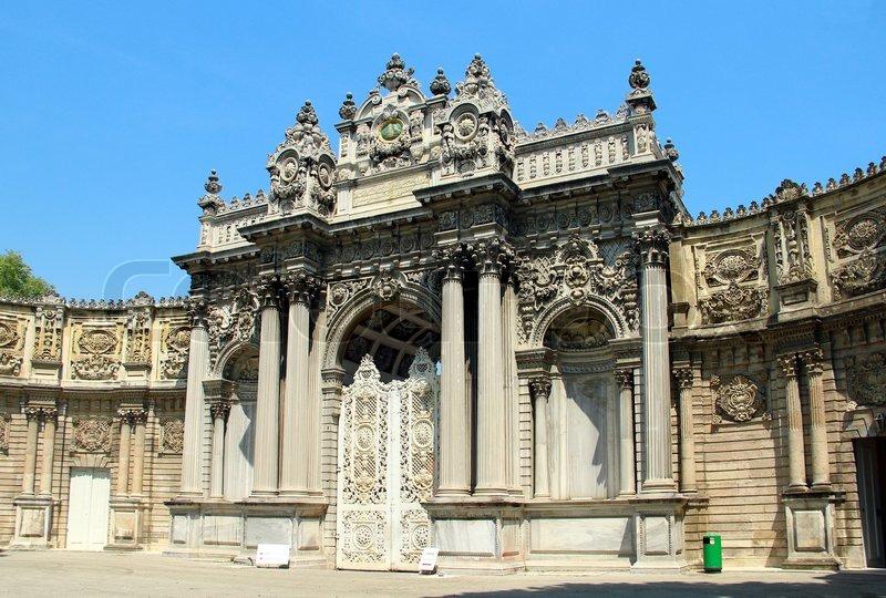 Turkey Istanbul Palace Dolmabahce Entrance
