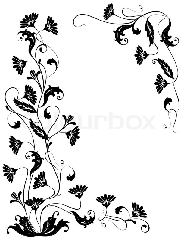 Vektor flowers ornaments isolated Floral design for the
