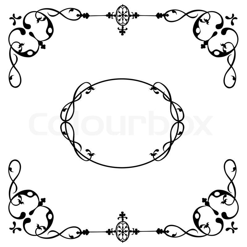 Vintage design frame for greeting card, invitation, menu