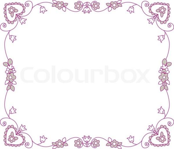 vector romantic floral frame