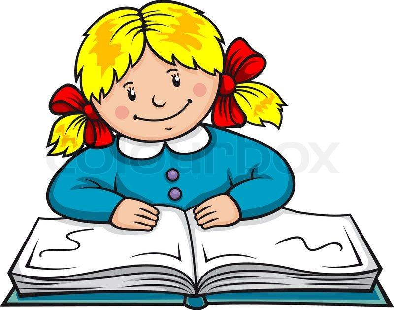 Pretty Girl Reading A Book
