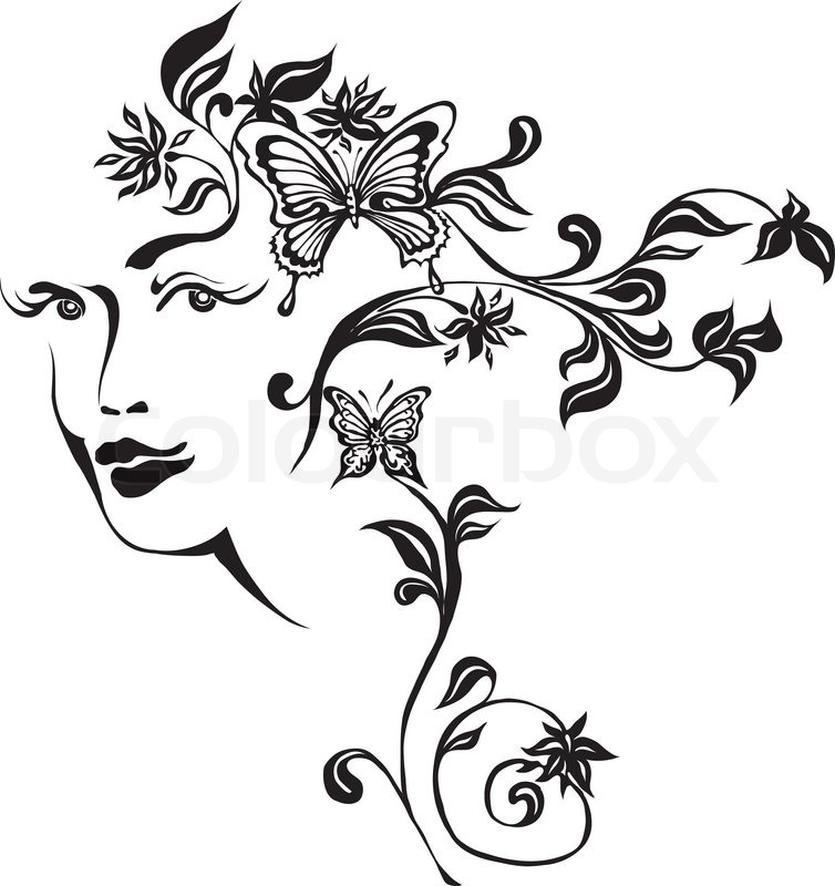 Butterfly And Floral Ornament Element For Design Royalty