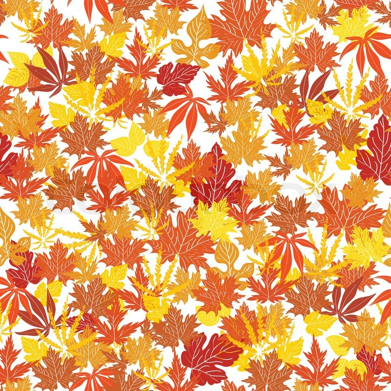 Fall Themed Wallpaper Patters Abstract Autumn Background Creative Stock Vector