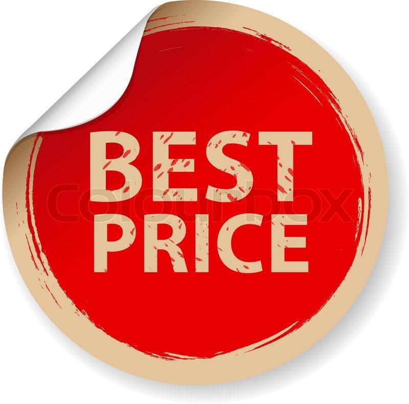 Vintage Label Best Price  Stock Vector  Colourbox