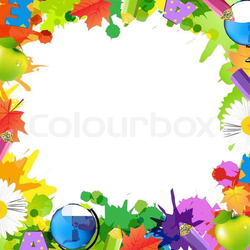 8513d5fee983 Back To School Frame Stock Vector Colourbox