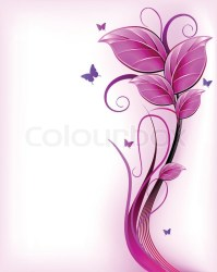 Floral pink background Vector Stock vector Colourbox