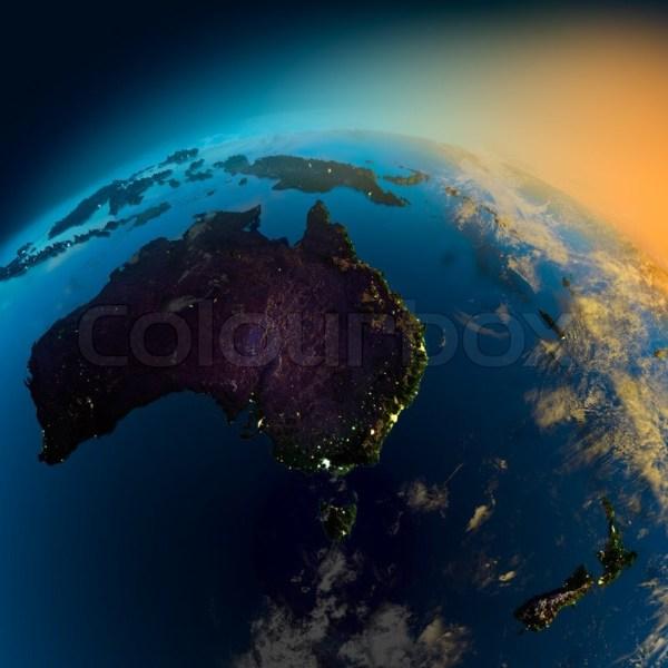Australia Satellite Night View