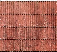 Old red slate tiles roof background texture   Stock Photo ...
