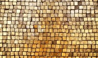 Golden mosaic wall background | Stock Photo | Colourbox