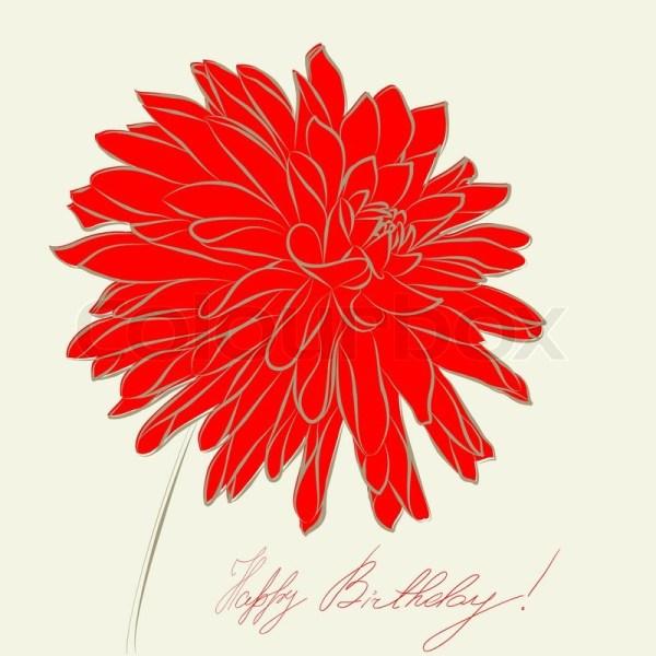 Stylized Dahlia flower illustration Stock Vector Colourbox
