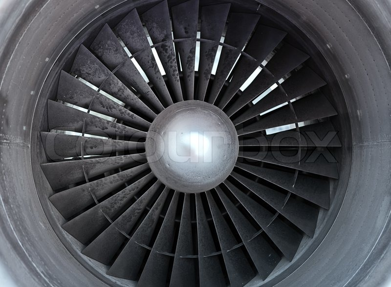 Turbine of airplane closeup  Stock Photo  Colourbox