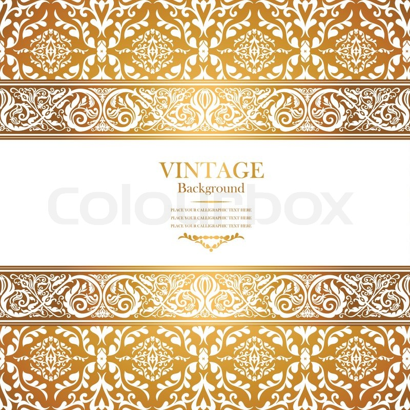 Gold Floral Ornament Png