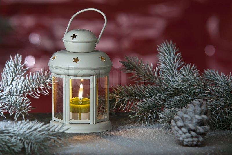 Christmas Lantern Stock Photo Colourbox