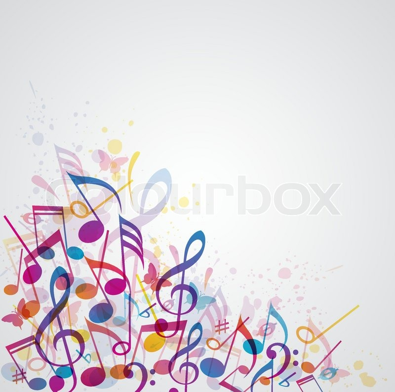 Vector abstract music background with   Stock vector