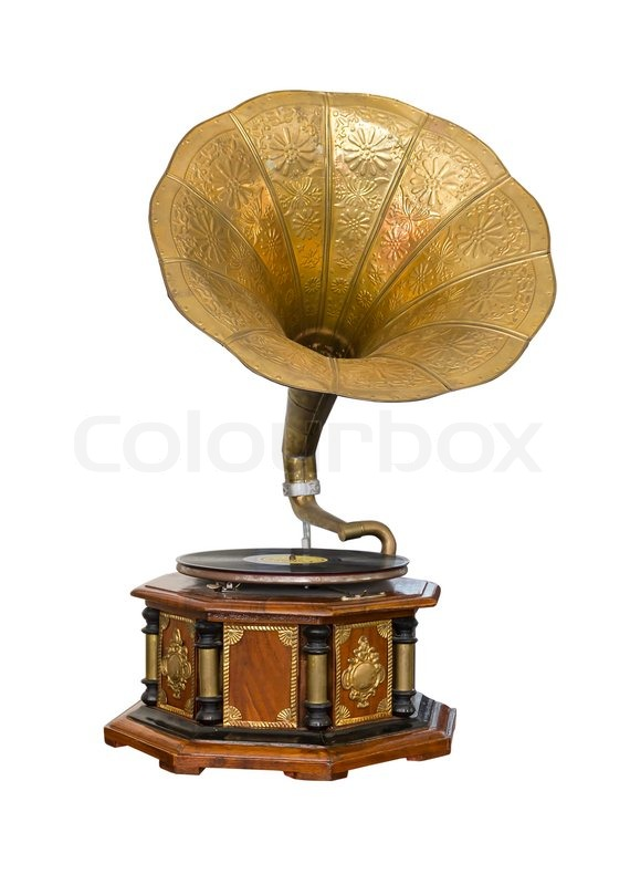 Vintage Gramophone Stock Photo Colourbox