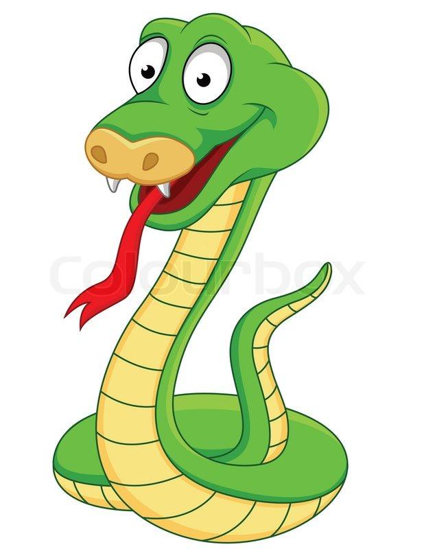 Snake cartoon | Stock Vector | Colourbox