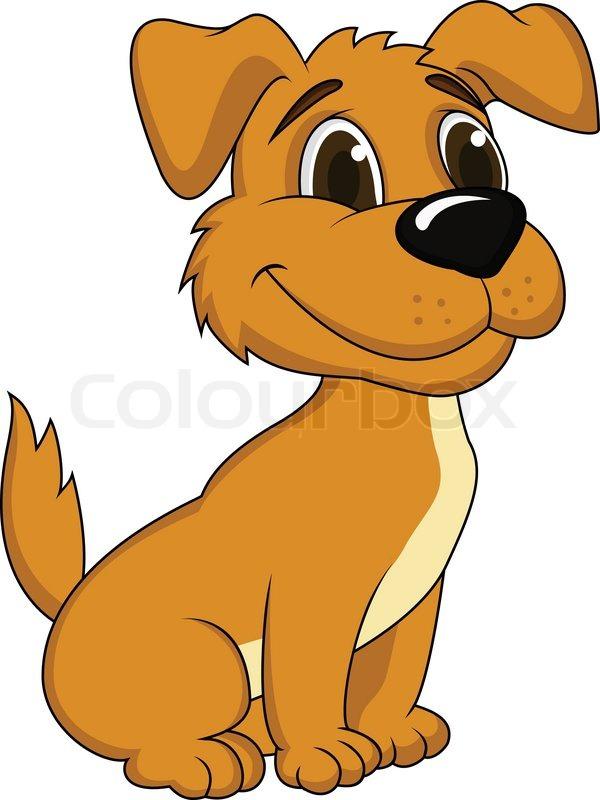 funny puppy cartoon stock
