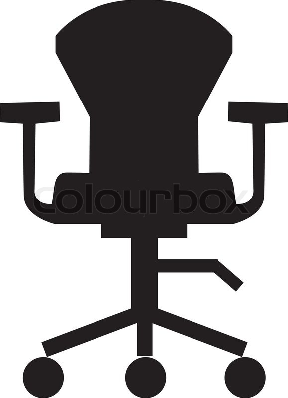 retro chair stool clawfoot legs swivel icon,furniture icon,office,room | stock vector colourbox