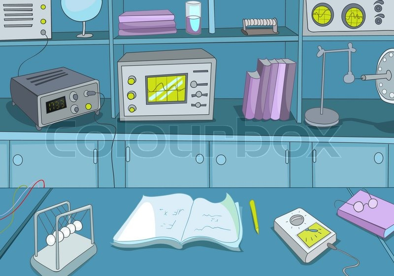 Physics Laboratory Stock Vector Colourbox