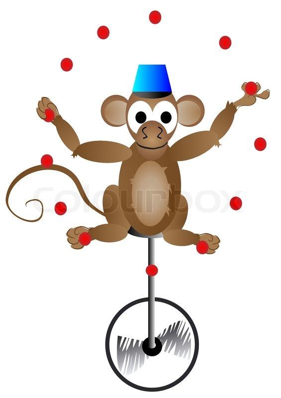 Circus Acrobat Monkey Stock Vector Colourbox