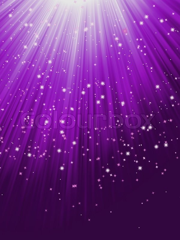 Falling Stars Live Wallpaper Snow And Stars Are Falling On Purple Rays Eps 8 Stock