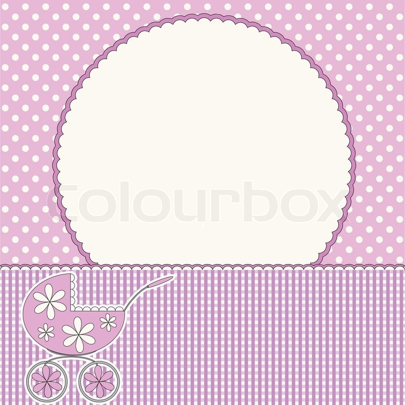 Babies Girl Pink Background Stock Vector Colourbox