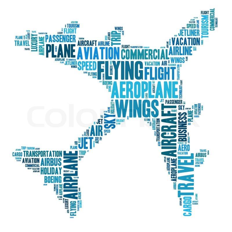 aeroplane info text graphics