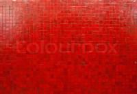 Red mosaic tiles wallpaper | Stock Photo | Colourbox