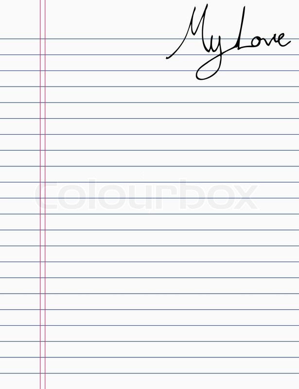 Hand Drawing Love Letter On Paper Stock Vector Colourbox