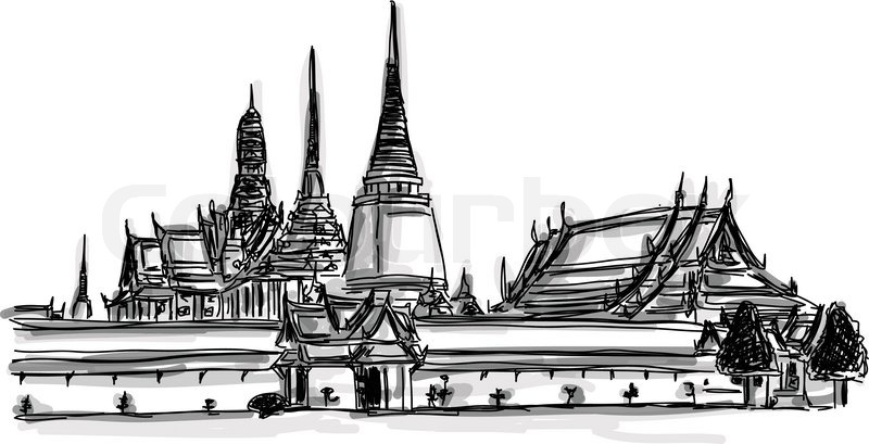 Vector World famous landmark collection : Grand Palace