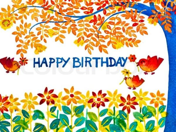 colorful happy birthday greeting