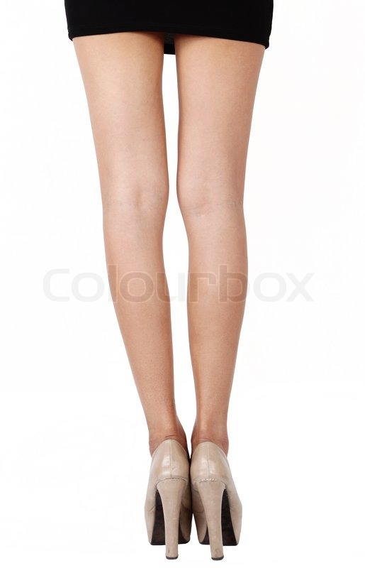 business woman leg stock