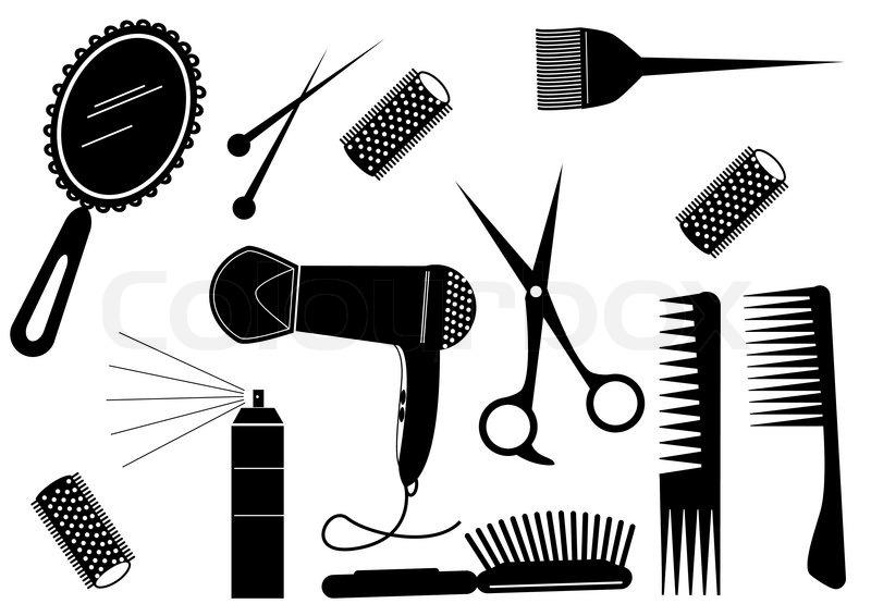 Haarschnitt mdchen girl  Vektorgrafik  Colourbox