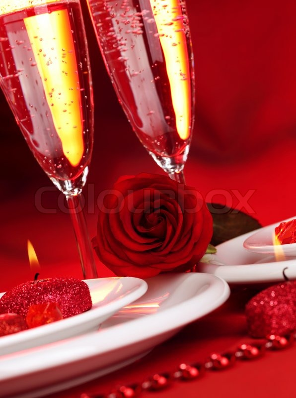 Image Of Beautiful Valentine Day Dinner Still Life Two