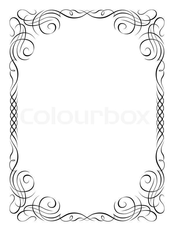Calligraphy ornamental decorative   Stock vector